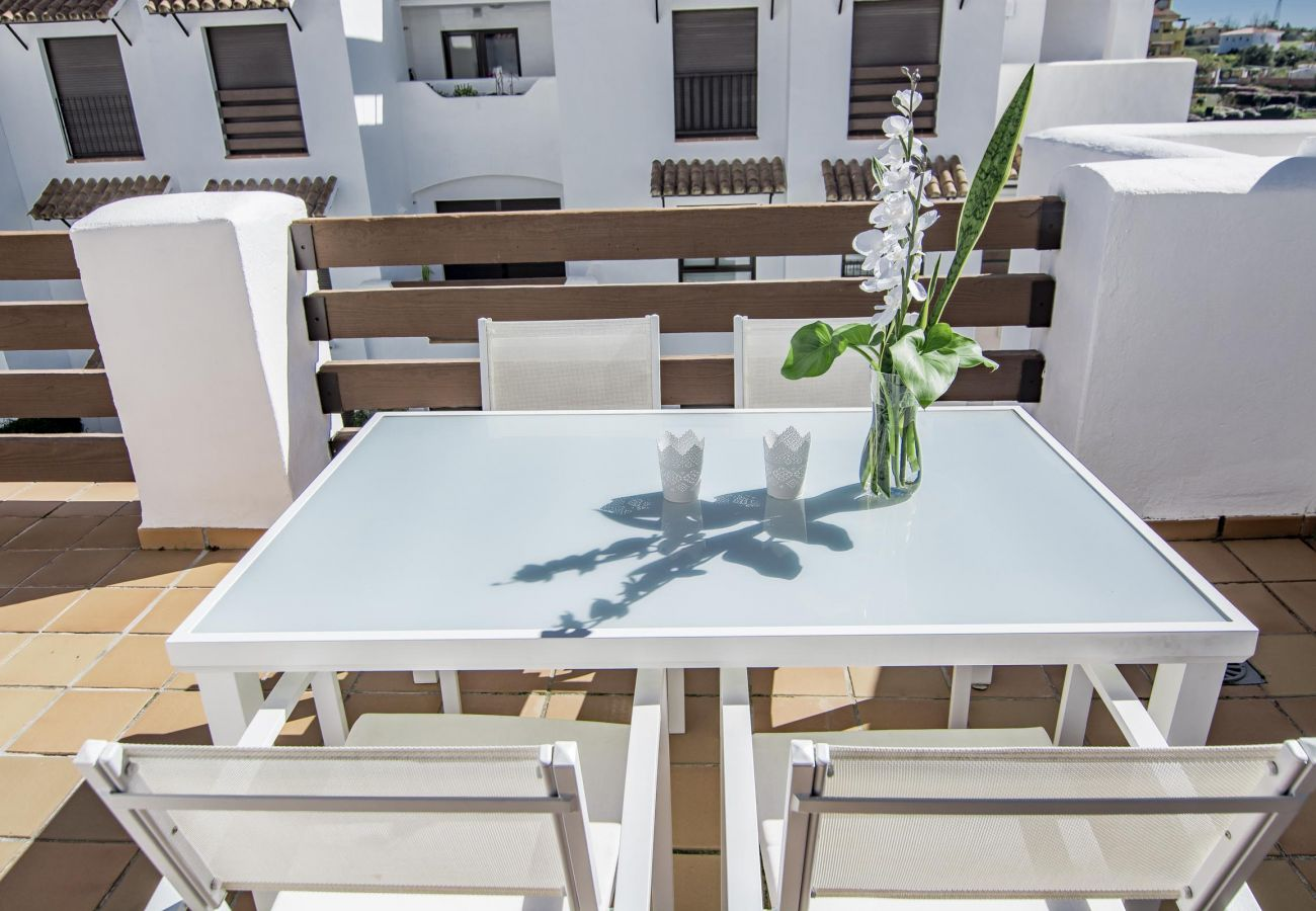 Terrace of family friendly holiday Apartment in Golf Hills